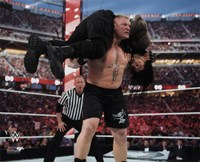 Brock Lesnar Wrestlemania 31 Action Fine Art Print
