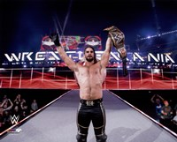 Seth Rollins with the Championship Belt Wrestlemania 31 Fine Art Print
