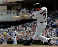 Joe Mauer 2015 Action Framed Print
