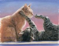 Frolicing Cats Fine Art Print
