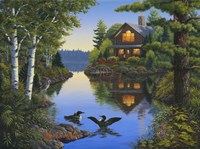 Lake Cabin Fine Art Print