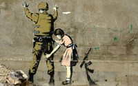 Bethlehem Wall Graffiti (horizontal) by Banksy - various sizes