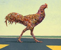 Head-on Chicken Fine Art Print