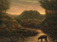 Mountain Stream by James W. Johnson - various sizes, FulcrumGallery.com brand