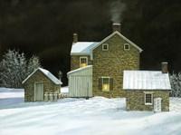 Door Yard Snow Fine Art Print