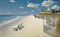 Beach House View Fine Art Print
