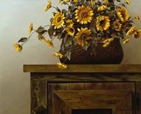 Sunflower Basket Fine Art Print