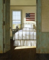 Beach House Bedroom Fine Art Print