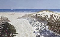 Walk To The Beach Fine Art Print