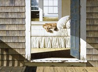 Beach House Dog Fine Art Print