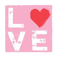 Love - Pink and Red Framed Print