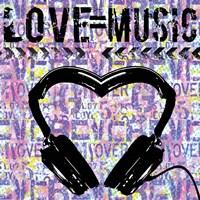 Love - Music 1 Framed Print