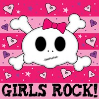 Girls Rock- Skull Fine Art Print
