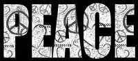 Peace Graffiti Framed Print