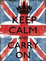 Keep Calm And Carry On 1 Fine Art Print