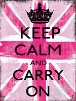 Keep Calm And Carry On 2 by Louise Carey - various sizes, FulcrumGallery.com brand