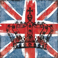Union Jack Crown 2 Framed Print