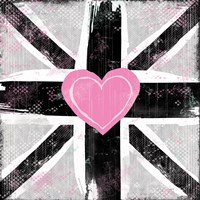 Union Jack Heart I by Louise Carey - various sizes - $25.49