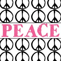 Peace - Pink with Peace Signs Fine Art Print