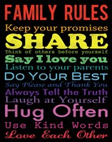 Family Rules 2 by Louise Carey - various sizes, FulcrumGallery.com brand
