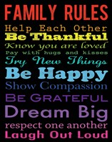 Family Rules 4 by Louise Carey - various sizes, FulcrumGallery.com brand