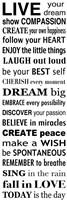 Live Your Dream 2 Framed Print