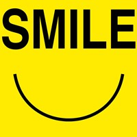 Smile - Yellow Framed Print