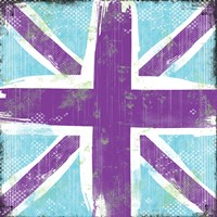 Union Jack Purple and Blue Fine Art Print
