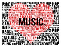 Music - New Wave 2 Framed Print