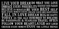 Live Your Dream 6 Framed Print