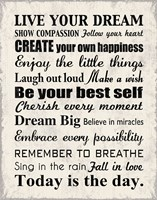 Live Your Dream 8 Fine Art Print