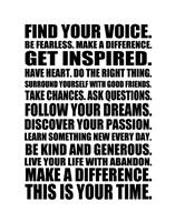 Find Your Voice 1 Framed Print