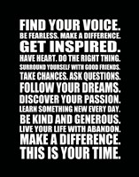 Find Your Voice 2 Framed Print
