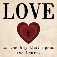 Love is the Key by Louise Carey - various sizes