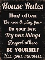 House Rules 1 Framed Print