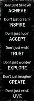 Achieve Inspire Accept 1 Framed Print