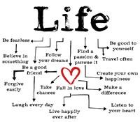 Life Chart 1 Framed Print
