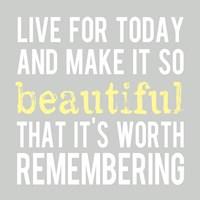 Make It So Beautiful 3 Framed Print