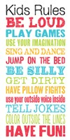 Kids Rules by Louise Carey - various sizes
