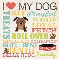 I Love My Dog 3 Framed Print