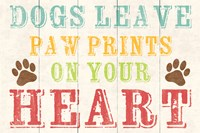 Dogs Leave Paw Prints 1 by Louise Carey - various sizes