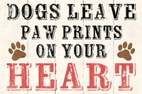 Dogs Leave Paw Prints 2 by Louise Carey - various sizes