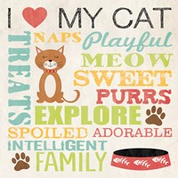 I Love My Cat 4 Framed Print
