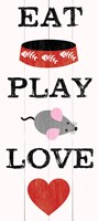 Eat Play Love - Cat 2 Fine Art Print