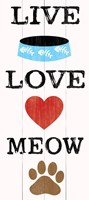 Live Love Meow Framed Print