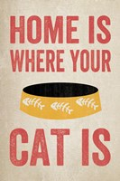 Home is Where Your Cat Is 2 Framed Print