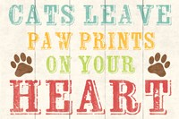Cats Leave Paw Prints 1 by Louise Carey - various sizes
