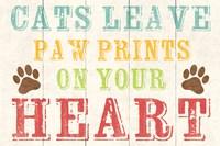 Cats Leave Paw Prints 1 Fine Art Print