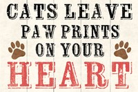 Cats Leave Paw Prints 2 by Louise Carey - various sizes