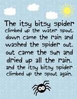 Itsy Bitsy Spider Fine Art Print